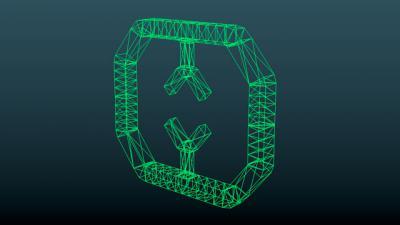 Demo eines Wireframe Modell mit Blender 2.5